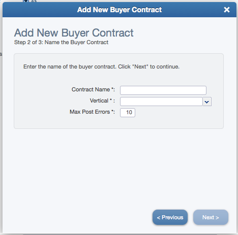 Add New Buyer Contract Wizard (Step 2)