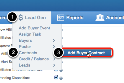 How to create a Buyer Contract
