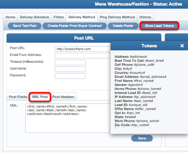 Using Lead Tokens for XML