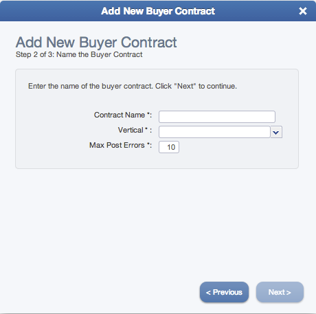 How to add a Buyer Contract