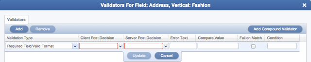 Applying Validation To A Field