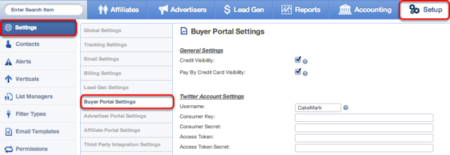 Where to find your Buyer Portal Settings