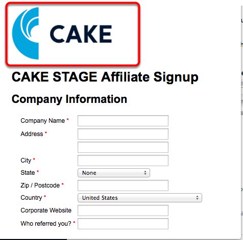 Affiliate Signup Page