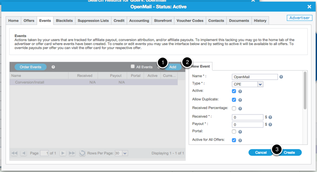 Adding Your OpenMail Advertiser