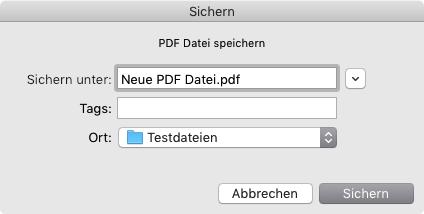 Vor der Umwandlung: Sichern der Datei unter einem neuen Namen