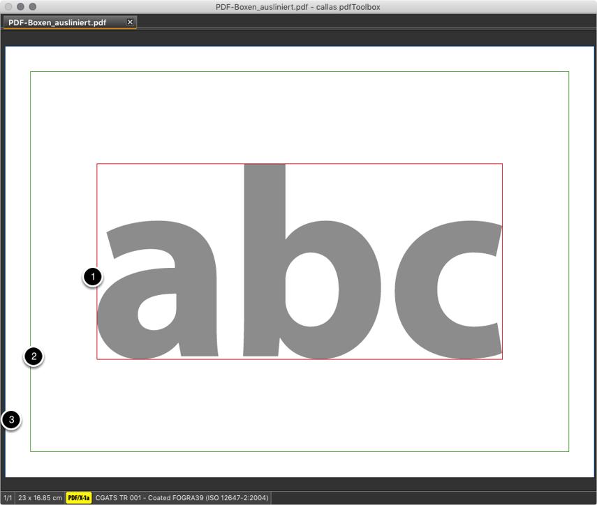 Die PDF-Datei mit den neuen auslinierten Seitengeometrierahmen