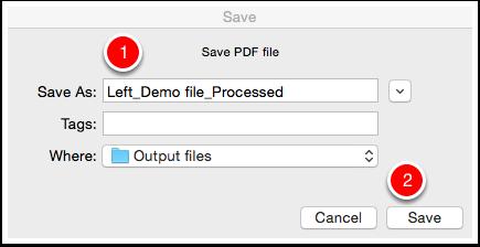 Save the output PDF file