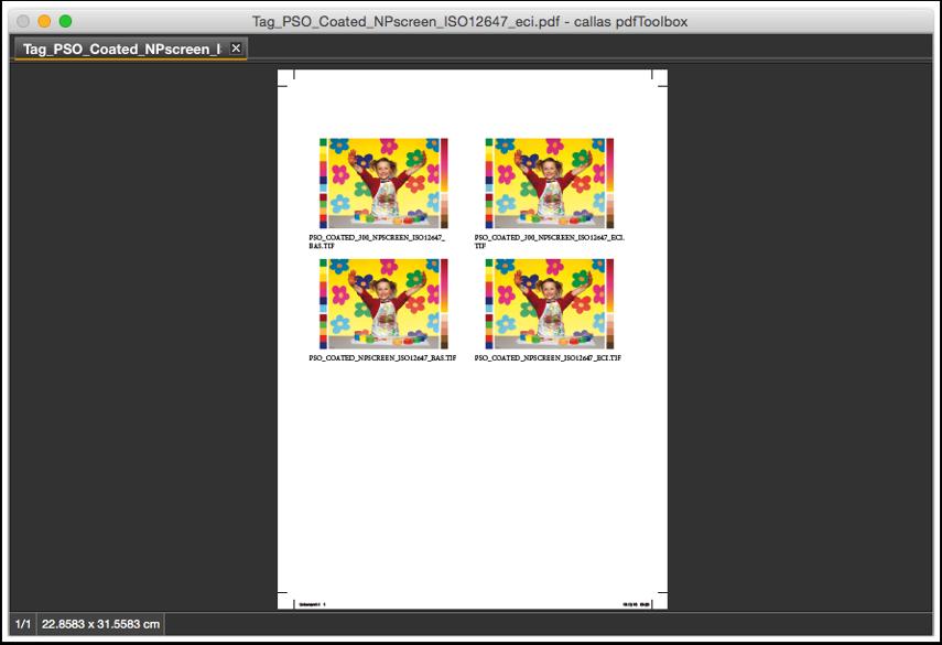 Die angehängte PDF in pdfToolbox öffnen (Datei > Öffnen)