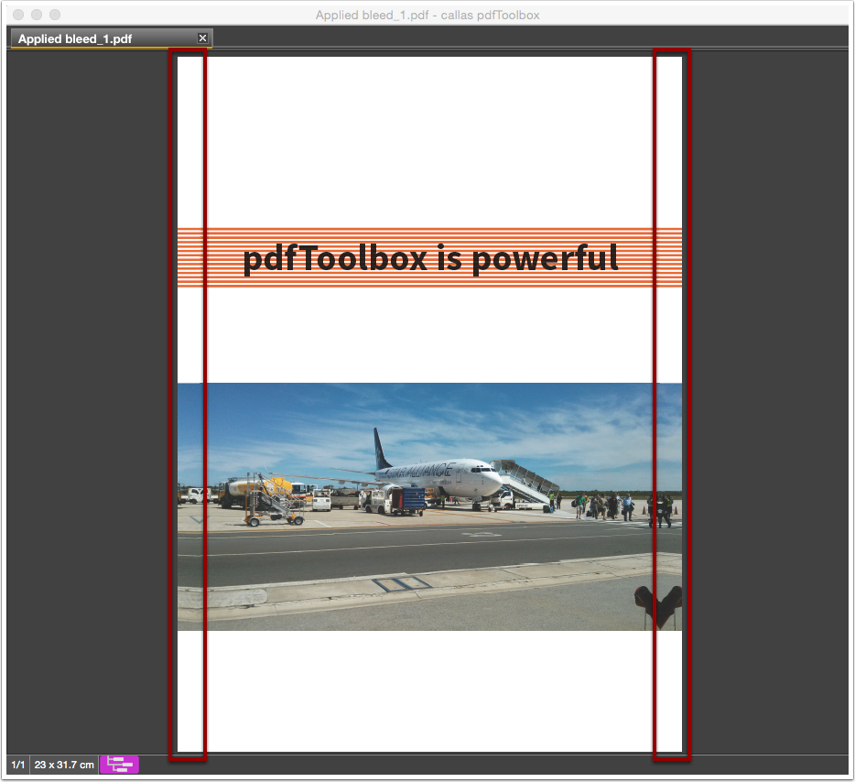 Analyze the processed PDF file in pdfToolbox