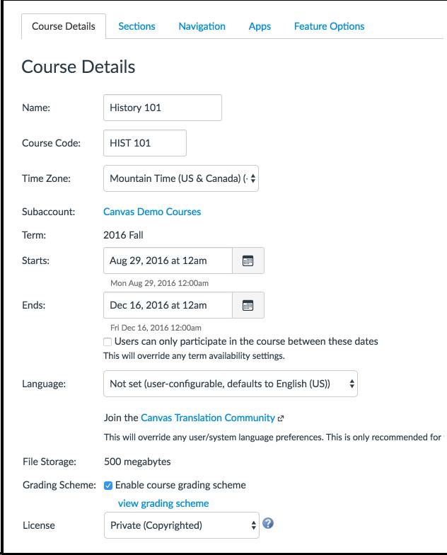 Ver detalles del curso