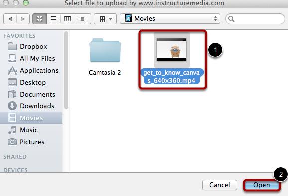 选择视频文件
