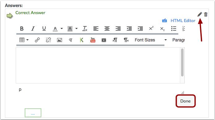 用富内容编辑器创建答案