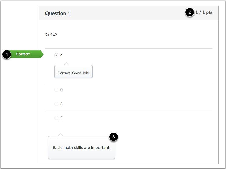多项选择题正确答案的学生视图