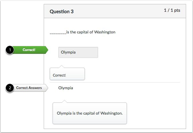 填空题反馈正确答案学生视图