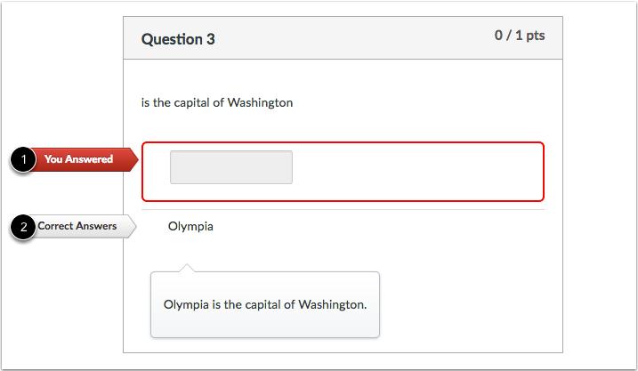 填空题反馈不正确答案学生视图