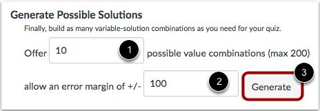 设置可能的解的数目