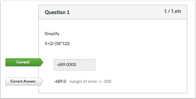 公式测验题正确答案的学生视图