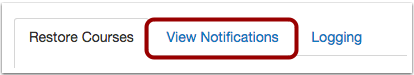 Open View Notifications