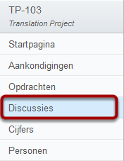 Open Discussies