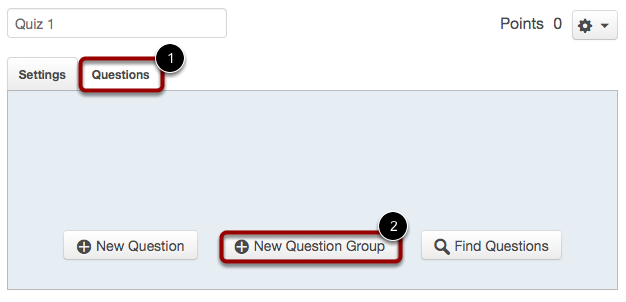 Create New Question Group