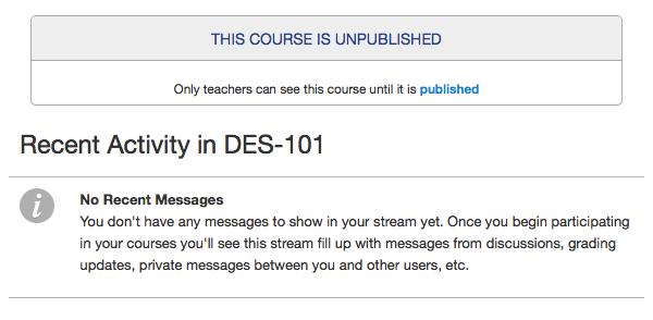 Bekijk ongepubliceerde cursus