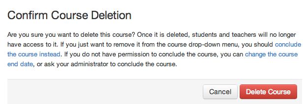 Een cursus verwijderen