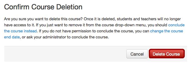 Verwijder cursus