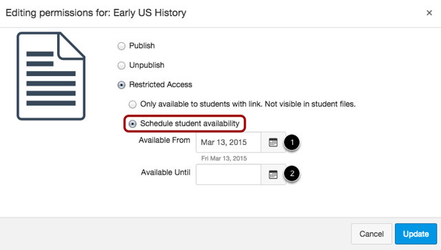 Schedule Student Availability