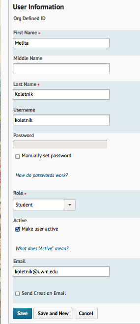Add a User without an ePanther ID