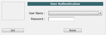 Enter User Name and Password