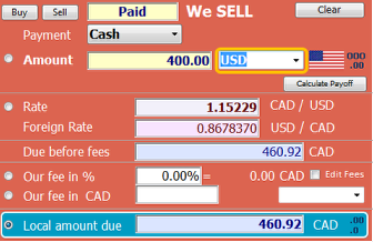 Selling multiple currencies within an invoice (client is purchasing multiple currencies)
