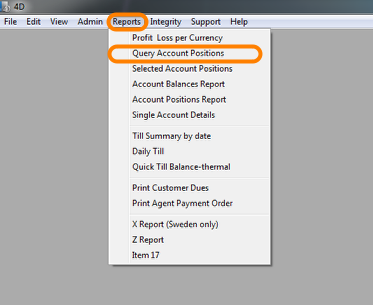 Query Account Positions