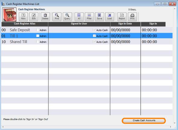 Open the 'Manage Tills' module