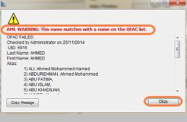 Sanction List Match