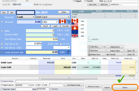 Accept another transaction using Debit as a form of payment, but with an added fee.