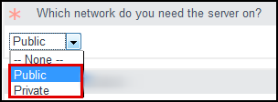 Select the Network.