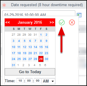 Enter the Date and Time you want Access to your VM.