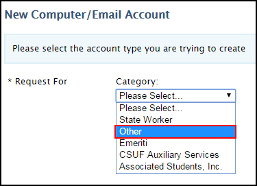 Email Account Category