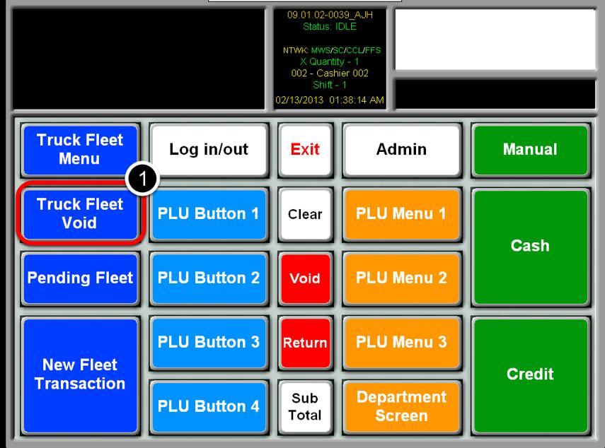 Select Truck Fleet Void Button