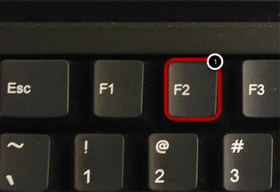 Select F2 to Switch Screen