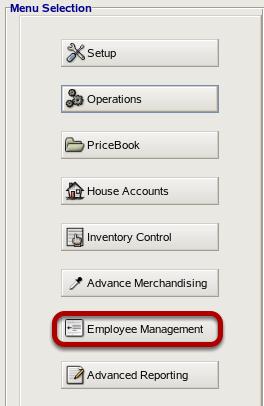 Employee Management Menu
