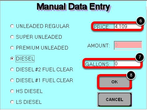 Enter the Manual Data