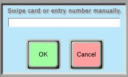 Swipe Card or Enter Number