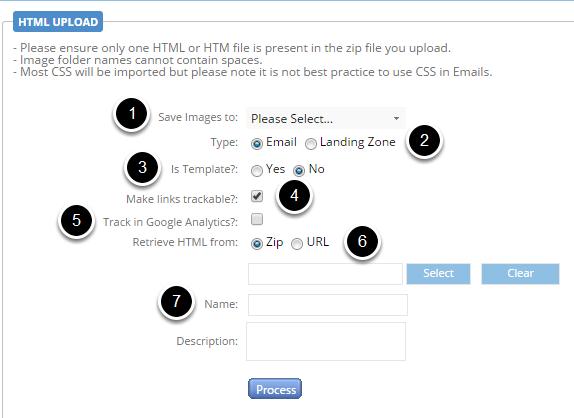 HTML Upload functionality