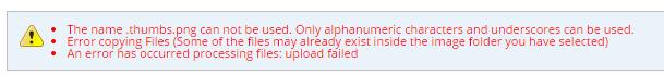 The error(s)