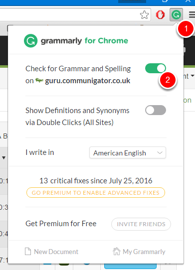 Grammarly - (https://app.grammarly.com/)