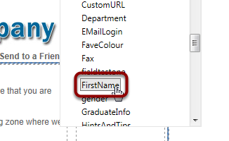 Select 'FirstName'