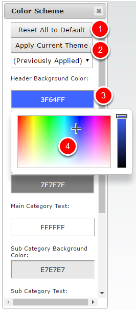2) Changing Color Schemes