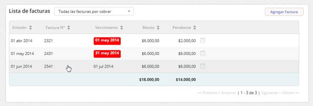"""Se abrirá la pantalla del cliente. En la """"Lista de facturas"""" haz clic en la factura a la que deseas registrarle el pago."""