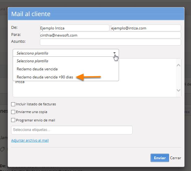 La próxima vez que redactes un email encontrarás la plantilla disponible.